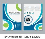 modern business two sided flyer ... | Shutterstock .eps vector #687512209