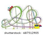 rollercoaster   cartoon | Shutterstock .eps vector #687512905