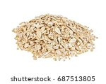 pile of oatmeal isolated on... | Shutterstock . vector #687513805
