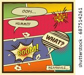 comic book page. vintage style...   Shutterstock .eps vector #687514261