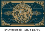 vintage card. elements by... | Shutterstock .eps vector #687518797