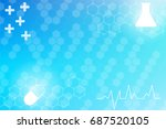 medical background with lines ... | Shutterstock .eps vector #687520105