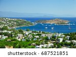 view over turkbuku town on the... | Shutterstock . vector #687521851