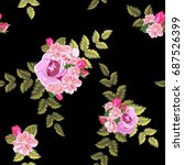 seamless pattern with beautiful ... | Shutterstock .eps vector #687526399