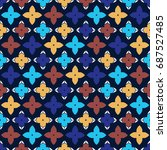 seamless arabic pattern   Shutterstock .eps vector #687527485