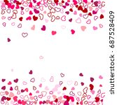 red hearts wedding background ... | Shutterstock .eps vector #687528409