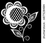 beautiful monochrome black and... | Shutterstock . vector #687528484