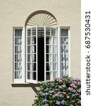 flowers decorating the window...   Shutterstock . vector #687530431