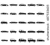 ser cars   black vector icon | Shutterstock .eps vector #687533605