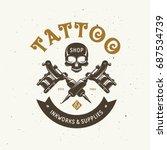 tattoo studio emblem. human... | Shutterstock .eps vector #687534739