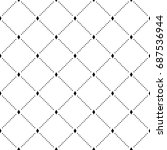 geometric grid seamless pattern ... | Shutterstock .eps vector #687536944