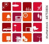 interior red ornaments set.... | Shutterstock .eps vector #68753806
