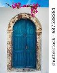 Typical Blue Door On The Islan...