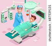 medical infographic isometric... | Shutterstock .eps vector #687539131