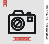 photo camera vector icon ... | Shutterstock .eps vector #687539401