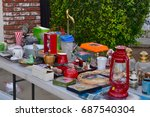 garage sale  yard sale... | Shutterstock . vector #687540304