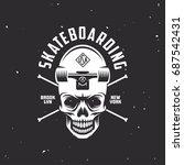 skateboarding t shirt design....   Shutterstock .eps vector #687542431