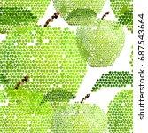 Apple Green Pattern