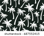 seamless pattern with trendy... | Shutterstock .eps vector #687552415