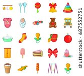kid icons set. cartoon set of... | Shutterstock .eps vector #687552751
