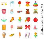 kid icons set. cartoon set of... | Shutterstock .eps vector #687552751