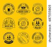 international beer day  beer... | Shutterstock .eps vector #687555805