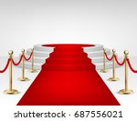 realistic vector red event... | Shutterstock .eps vector #687556021
