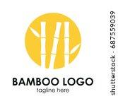 bamboo logo concept. | Shutterstock .eps vector #687559039