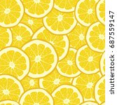 seamless pattern from oranges. | Shutterstock . vector #687559147