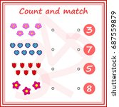 counting game for preschool... | Shutterstock .eps vector #687559879