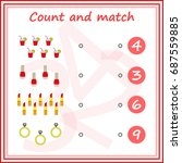 counting game for preschool... | Shutterstock .eps vector #687559885