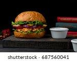 cheeseburger | Shutterstock . vector #687560041