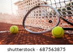 tennis game. tennis ball with... | Shutterstock . vector #687563875