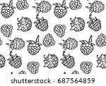 seamless pattern sketch...   Shutterstock .eps vector #687564859