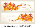 two abstract autumn banners... | Shutterstock .eps vector #687566095