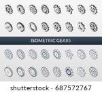 vector illustration. set of web ... | Shutterstock .eps vector #687572767