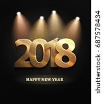the 2018 new year count symbol... | Shutterstock .eps vector #687578434