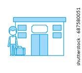 tourist in hotel building | Shutterstock .eps vector #687580051