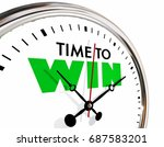 time to win succeed successful... | Shutterstock . vector #687583201