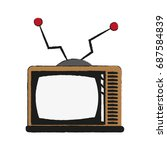 vintage tv icon image  | Shutterstock .eps vector #687584839