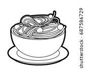 delicious italian pasta icon  | Shutterstock .eps vector #687586729
