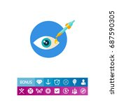 eye test icon | Shutterstock .eps vector #687590305