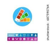 color palette icon | Shutterstock .eps vector #687590764