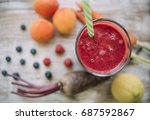 red smoothie   Shutterstock . vector #687592867
