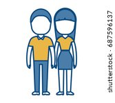 couple of woman and man icon | Shutterstock .eps vector #687596137