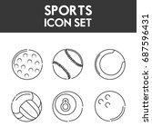 set flat icon ball sport | Shutterstock .eps vector #687596431