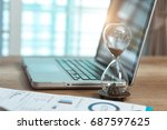 business time | Shutterstock . vector #687597625