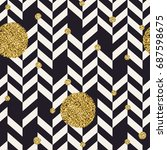 chevron black pattern and... | Shutterstock .eps vector #687598675