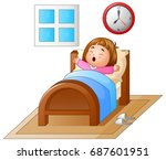vector illustration of little... | Shutterstock .eps vector #687601951