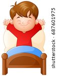vector illustration of little... | Shutterstock .eps vector #687601975
